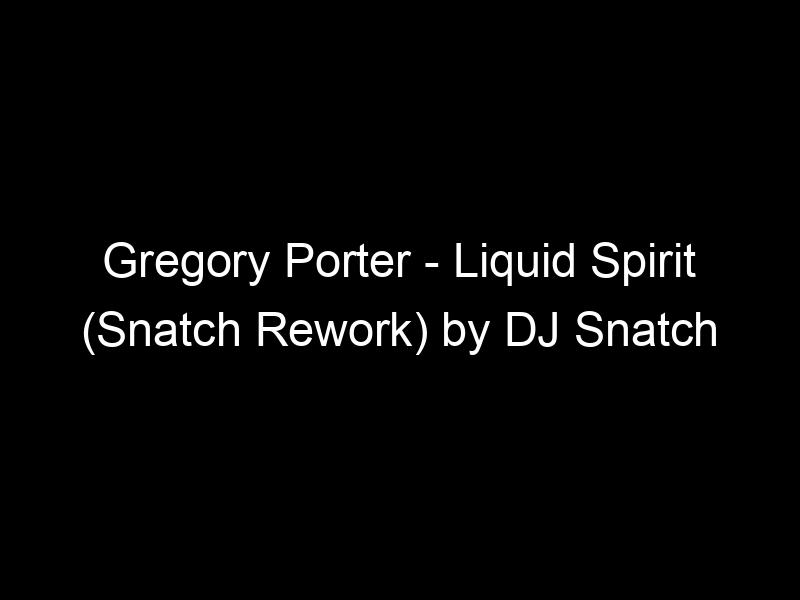 Gregory Porter – Liquid Spirit (Snatch Rework) by DJ Snatch (Athens)