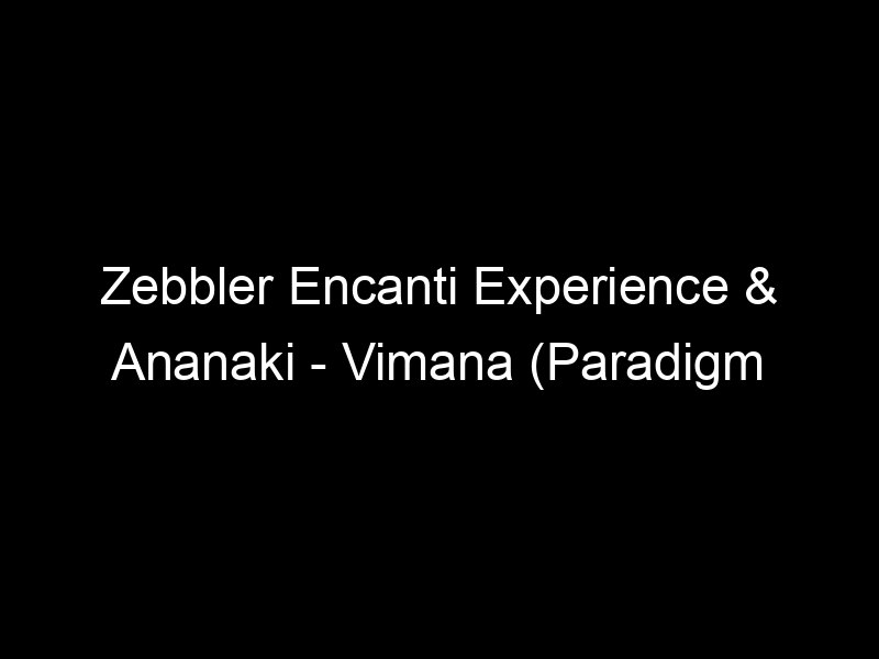 Zebbler Encanti Experience & Ananaki – Vimana (Paradigm Theorem Remix) [Infusion 02 / 11] by Gravitas Music